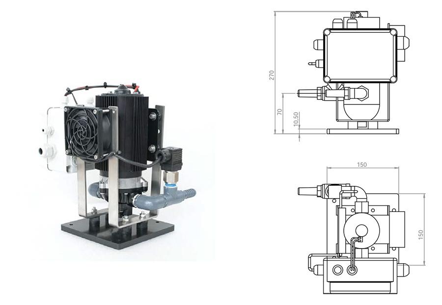 30 l/h - Gal/h 7.8 Pump